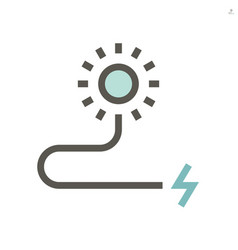 solar energy for electric car icon design 48x48 vector image