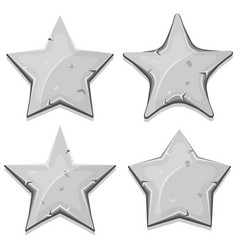 Stone stars icons for ui game vector