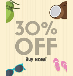 Summer holiday sale poster design vector