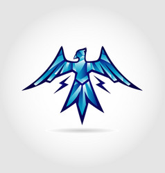 thunder bird logo design symbol vector image