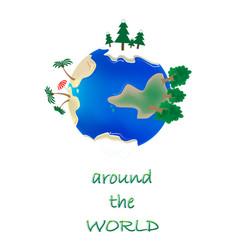 trip around world concept vector image