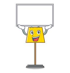 up board floor lamp character cartoon vector image
