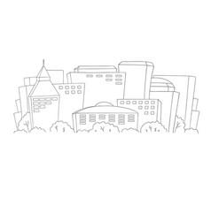 urban cityscape monochrome background vector image