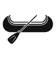 Venice gondola icon simple style vector