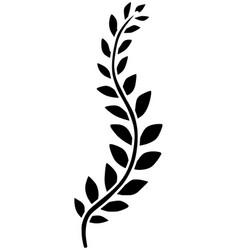 Vine plant silhouette black vector