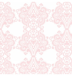 Vintage Damask swirl flower pattern vector