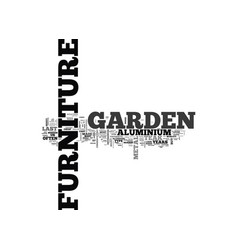 What garden furniture should i buy text word vector