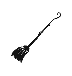Witches broom icon simple style vector