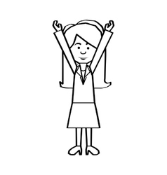 woman cartoon icon image vector image