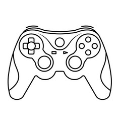 Xbox video game controllers or gamepad line art vector
