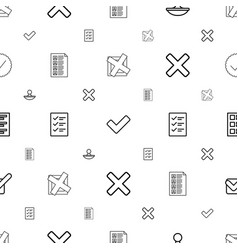 Yes icons pattern seamless white background vector