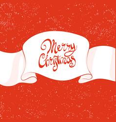 beautiful christmas inscription vector image vector image