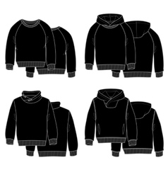 Hoodies black vector image vector image