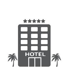 hotel building gray vector image