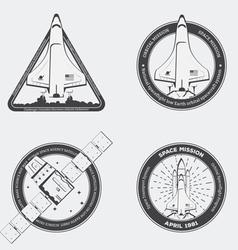 Rocket emblems vector