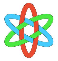 template logo rgb interlocking weave ellipses vector image vector image