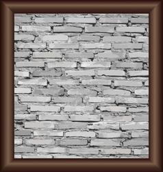 Vintage frame on brick wall vector image vector image