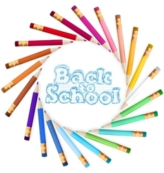 Back to school template EPS 10 vector image