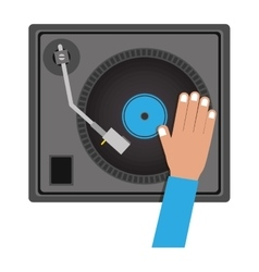 Disc jockey design vector