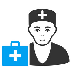 first-aid doctor flat icon vector image vector image