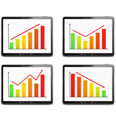 Graphs vector image vector image