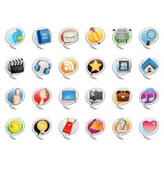 social media bubble icon vector image vector image