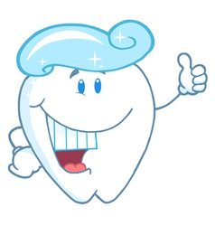 Tooth Cartoon Character With Toothpaste vector image vector image