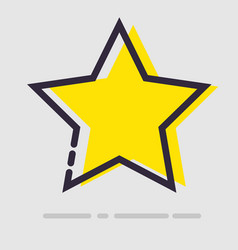 abstract flat yellow star icon vector image