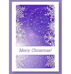Christmas purple background with snowflakes vector image vector image
