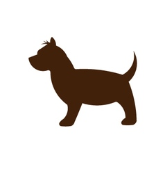 Small Dog silhouette vector image