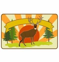 vintage stag label vector image