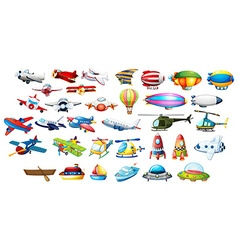 Airplane toys and balloons vector image