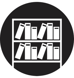 Books on the shelves simply retro vector image