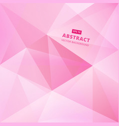 geometric pink low polygon abstract background vector image