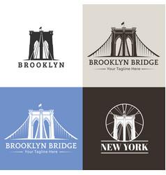 new york brooklyn bridge vector image