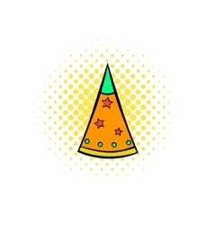 Party hat comics icon vector image vector image
