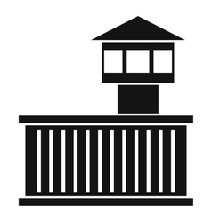Prison tower icon simple style vector image