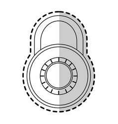safety lock icon image vector image vector image