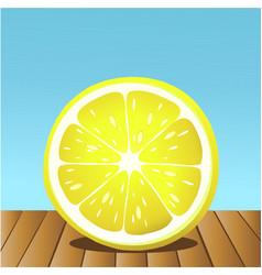 summer lemon fruit vector image
