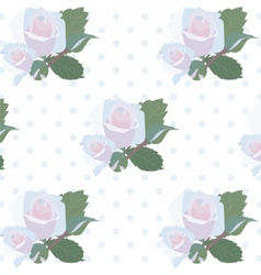 Watercolor Delicate Roses pattern vector image