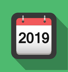 2019 calendar flat icon 2019 calendar cover sheet vector image