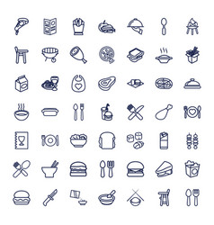 49 lunch icons vector