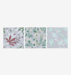 abstract floral natural pattern on a gray vector image
