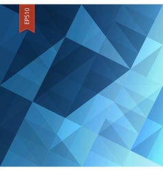 abstract triangles background blue vector image