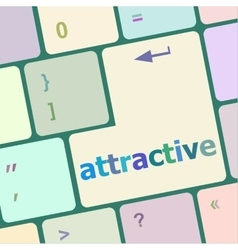 attractive word on keyboard key notebook computer vector image
