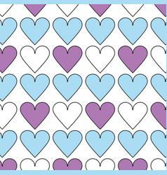 Beauty heart a romance decoration background vector