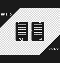 Black the commandments icon isolated vector