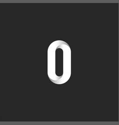 bold letter o logo creative monogram smooth line vector image