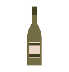 bottle drink beverage alcohol isolated vector image