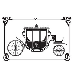 brougham victorian era carriage image vector image